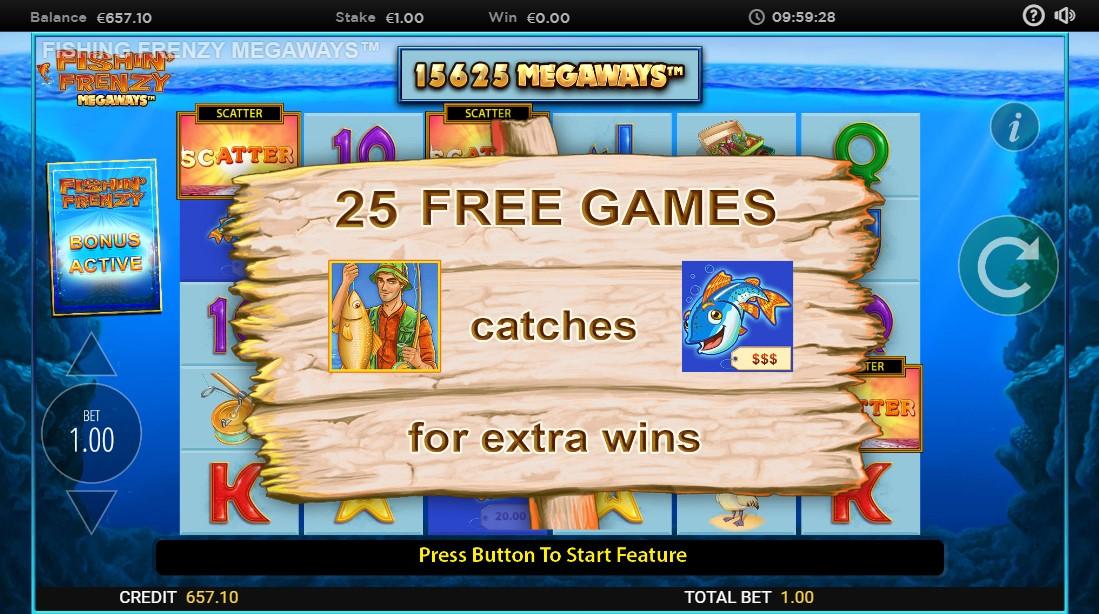 Бесплатный слот Fishin' Frenzy Megaways