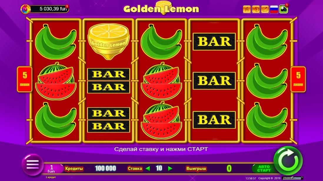 Слот онлайн Golden Lemon