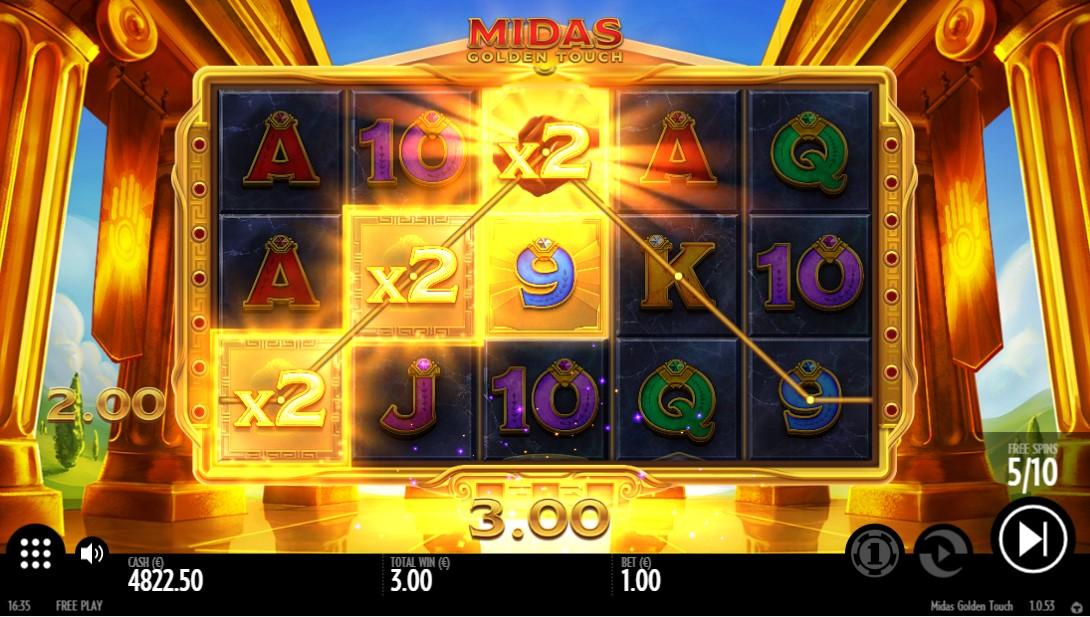 Бесплатный игровой автомат Midas Golden Touch