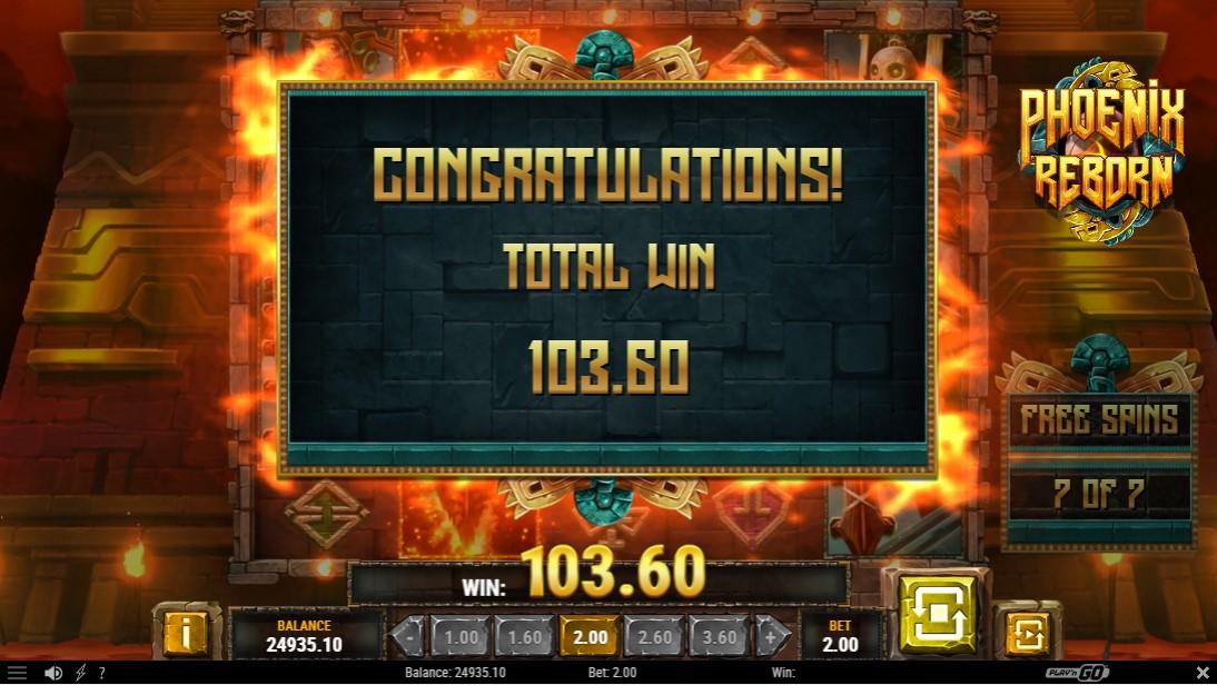 Phoenix Reborn игровой автомат