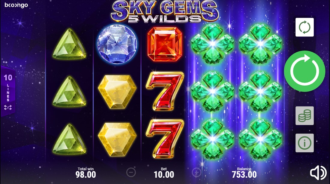 Играть онлайн Sky Gems: 5 Wilds