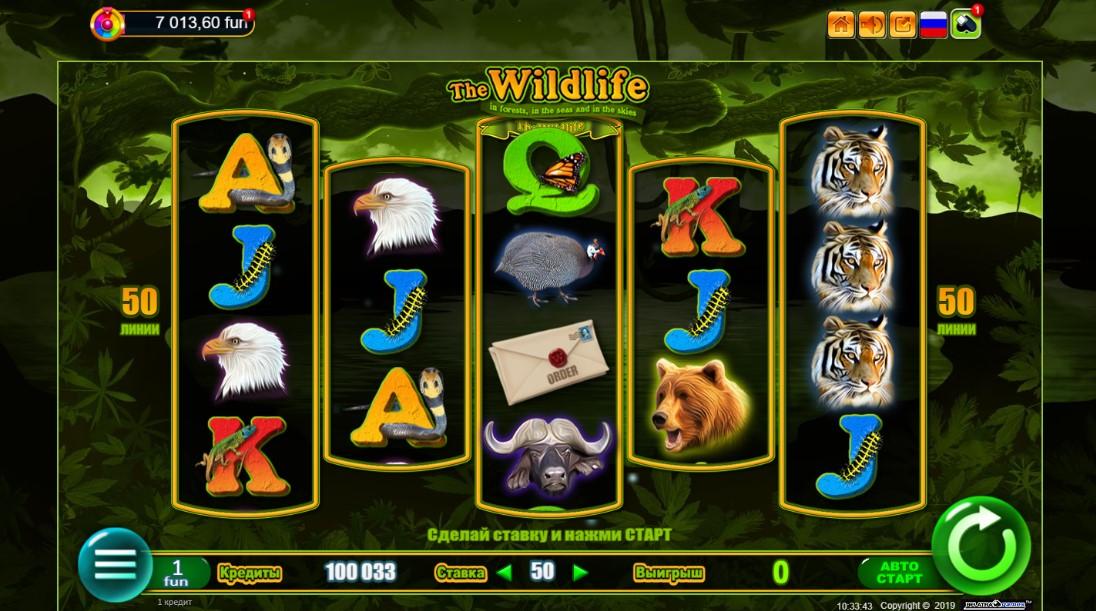 Онлайн слот The Wildlife