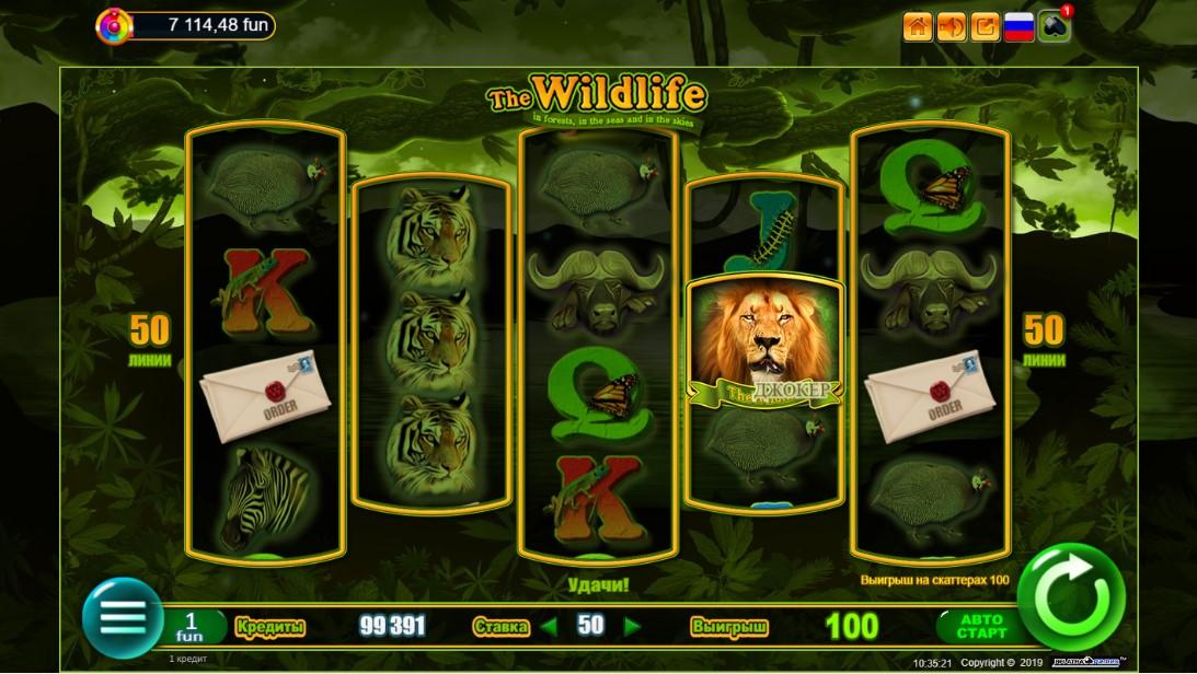 The Wildlife игровой автомат