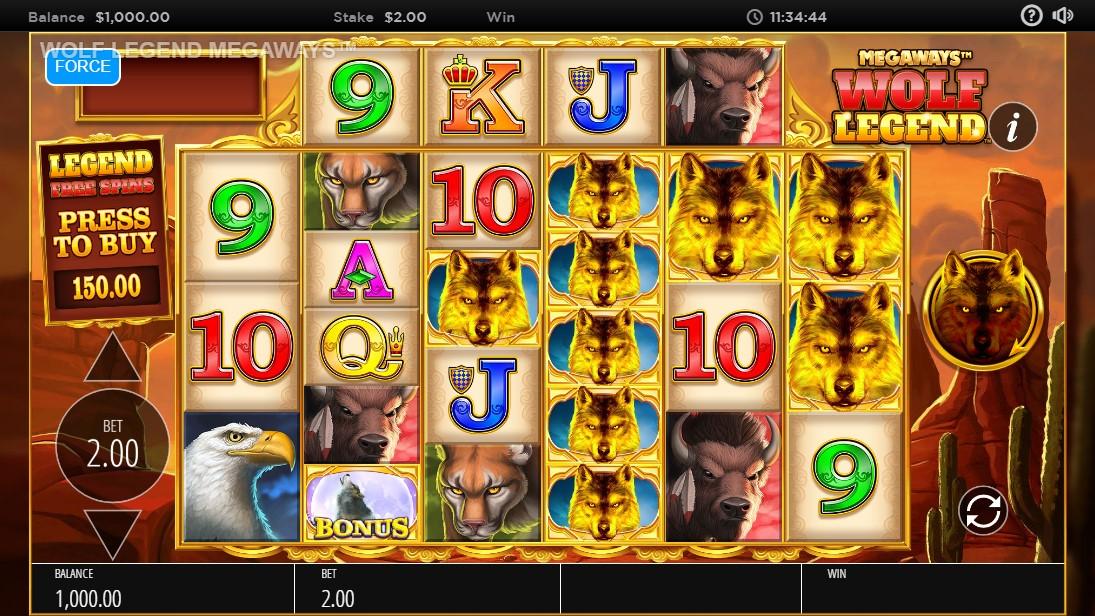 Wolf Legend Megaways игровой автомат