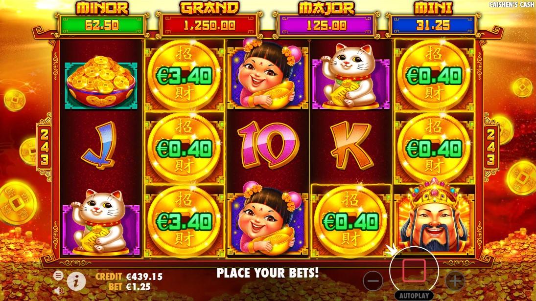 Бесплатный игровой автомат Caishen's Cash