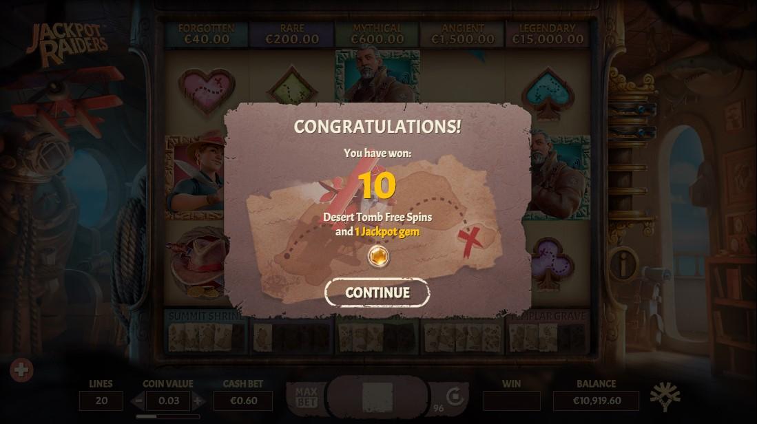 Играть бесплатно Jackpot Raiders