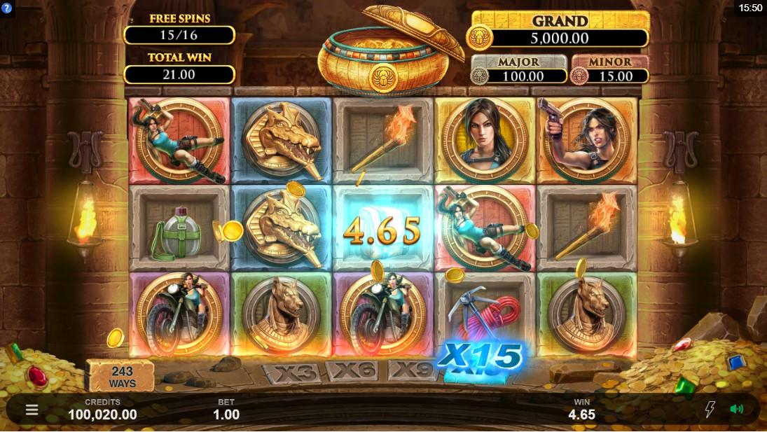 Бесплатный игровой автомат Lara Croft Temples and Tombs