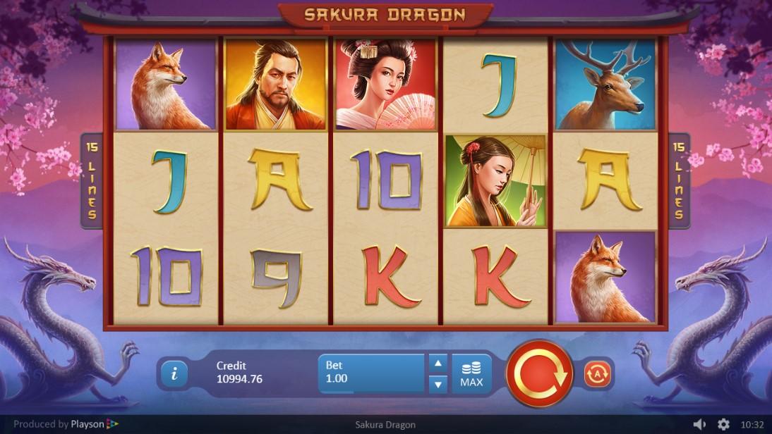 Слот играть Sakura Dragon