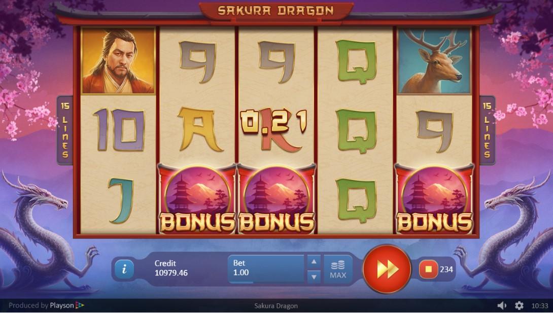 Sakura Dragon игровой автомат