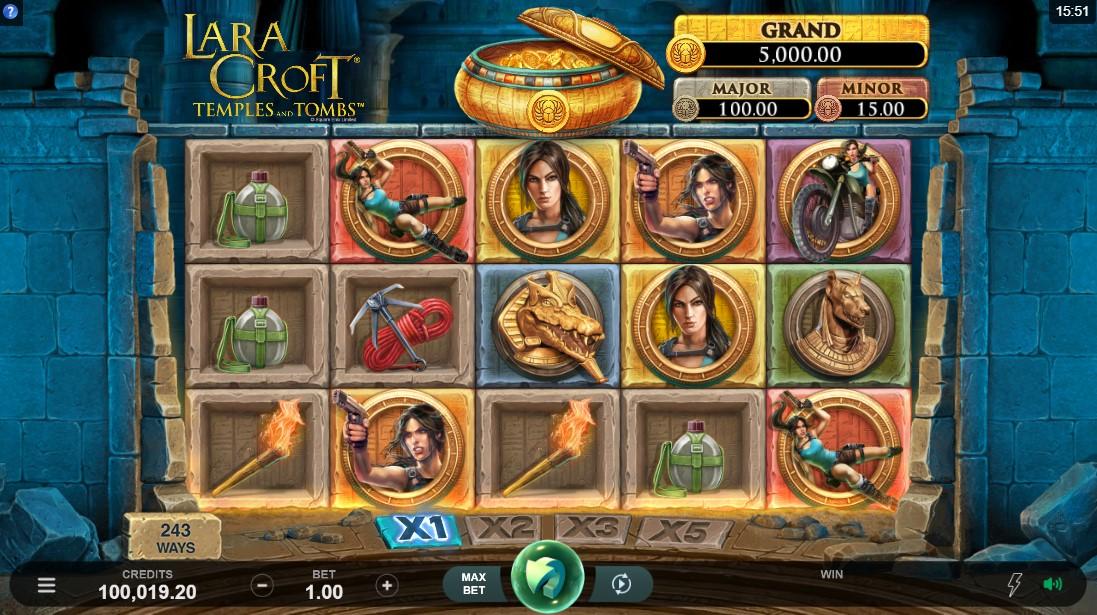 Lara Croft Temples and Tombs играть бесплатно