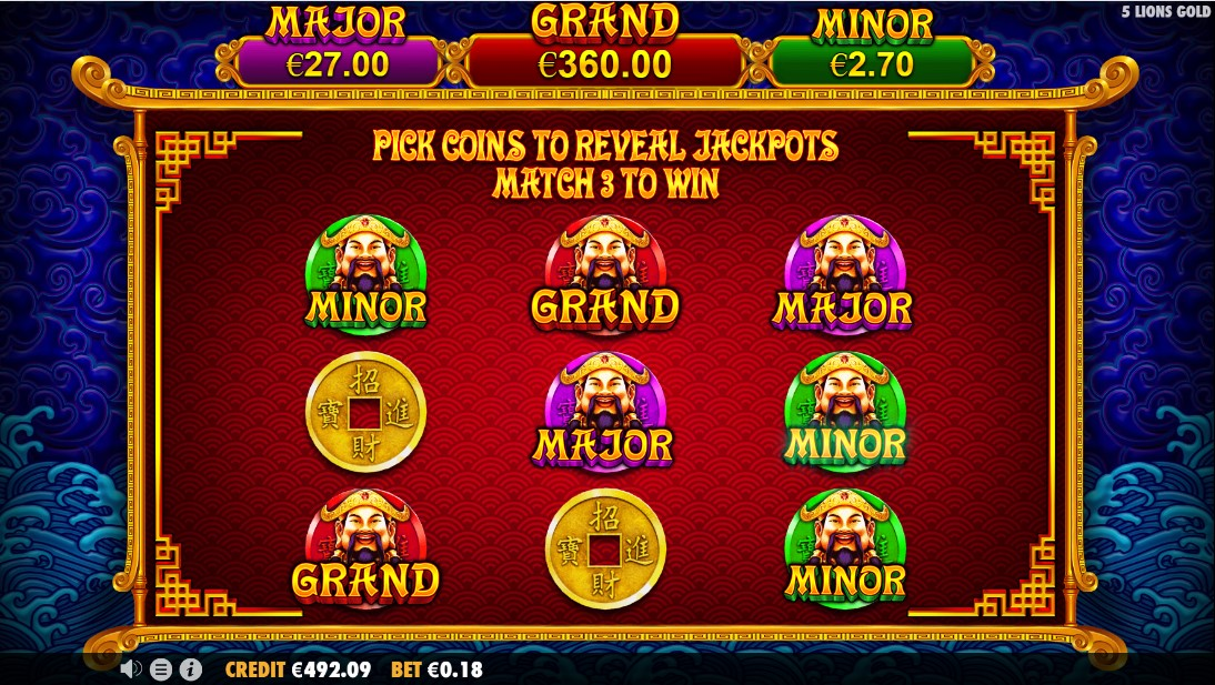 Слот 5 Lions Gold играть