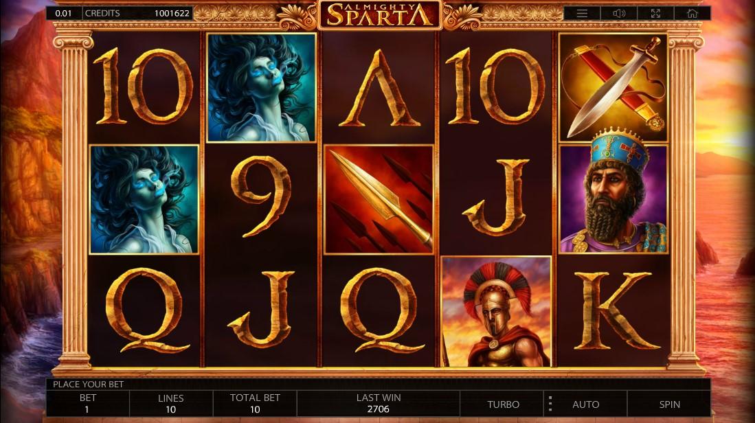 Слот Almighty Sparta играть