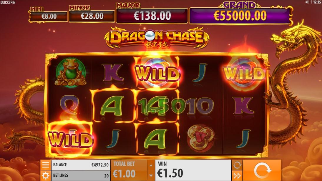 Бесплатный игровой автомат Dragon Chase