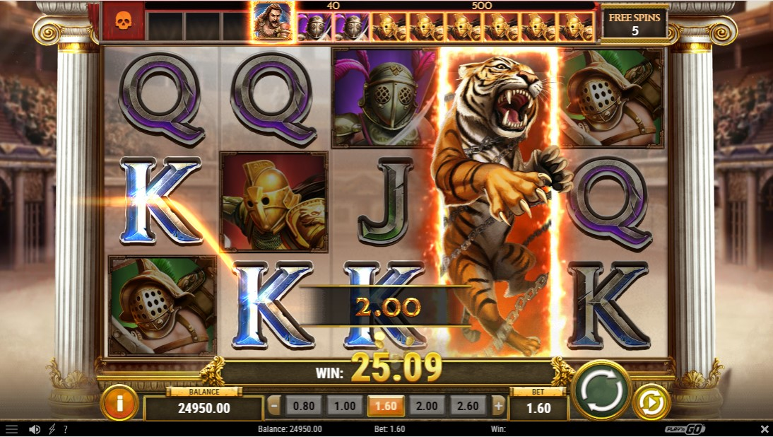 Бесплатный игровой автомат Game of Gladiators