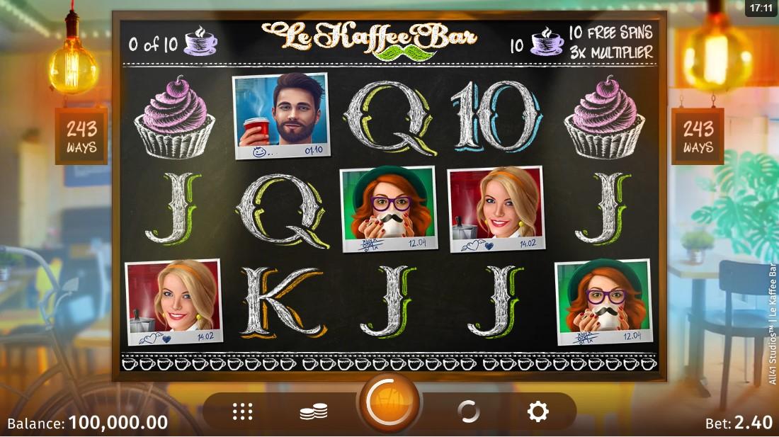 Le Kaffee Bar бесплатный игровой автомат