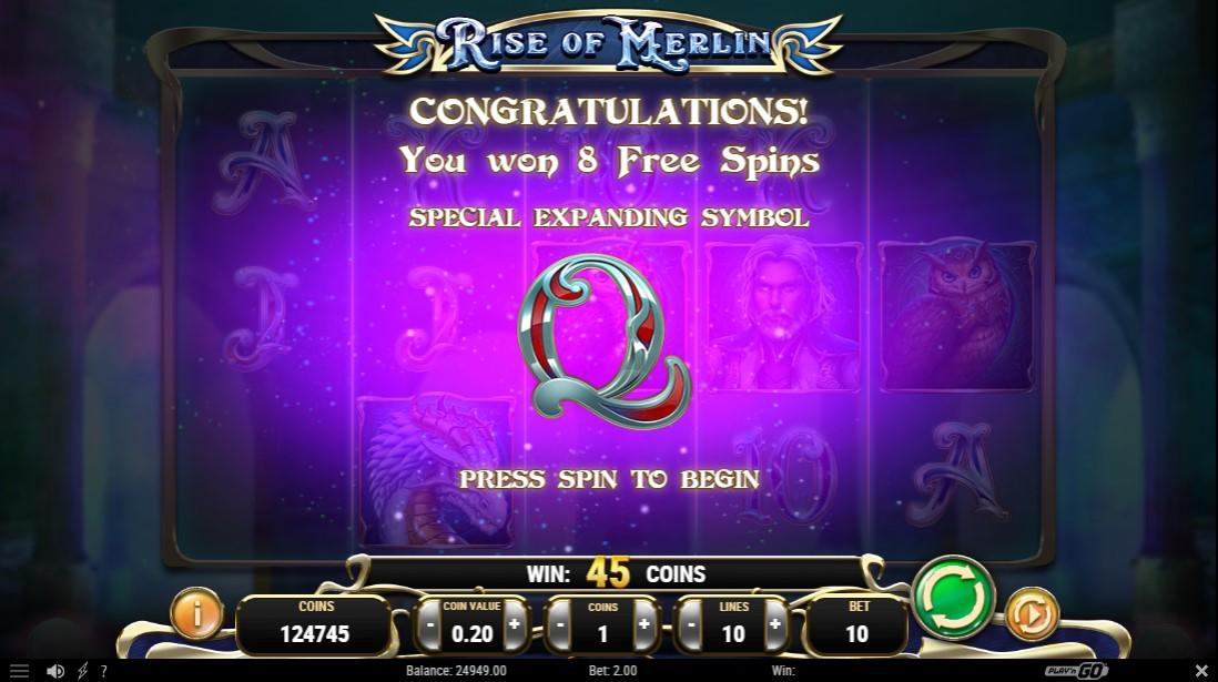 Бесплатный слот Rise of Merlin