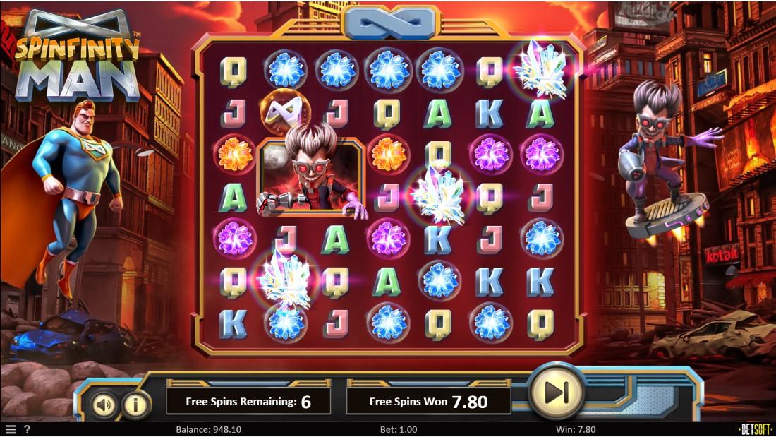 Игровой автомат Spinfinity Man