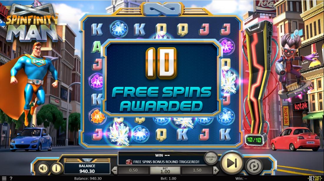 Играть бесплатно Spinfinity Man