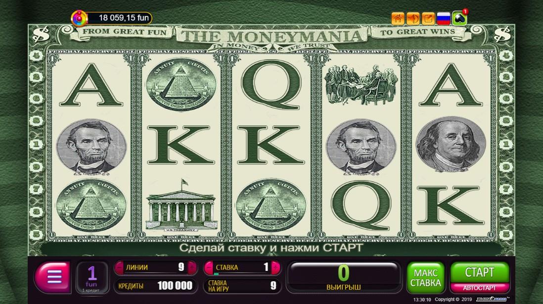Слот The Moneymania играть