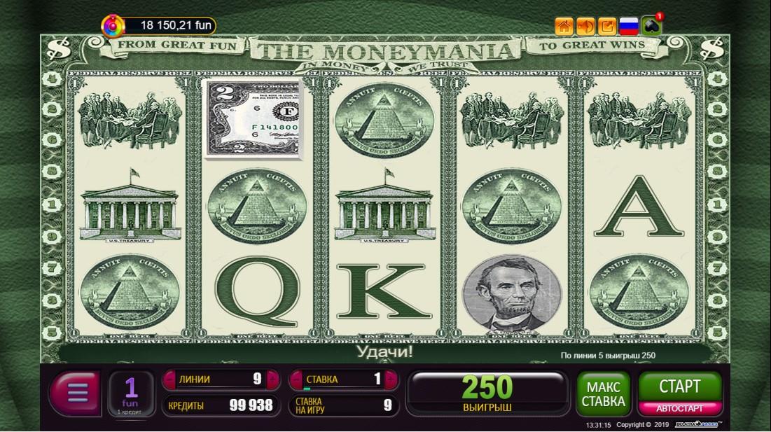 Игровой автомат The Moneymania