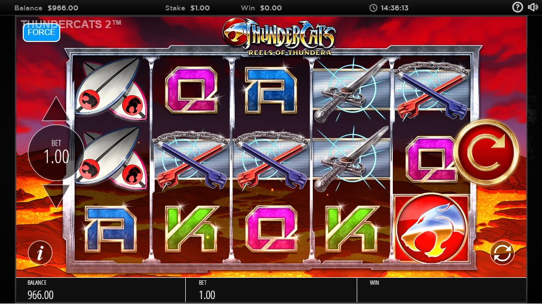Игровой автомат Thundercats Reels Of Thundera