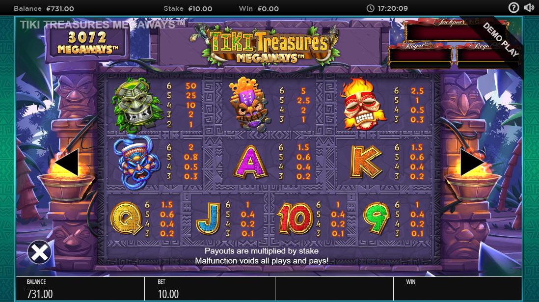 Tiki Treasures Megaways слот играть