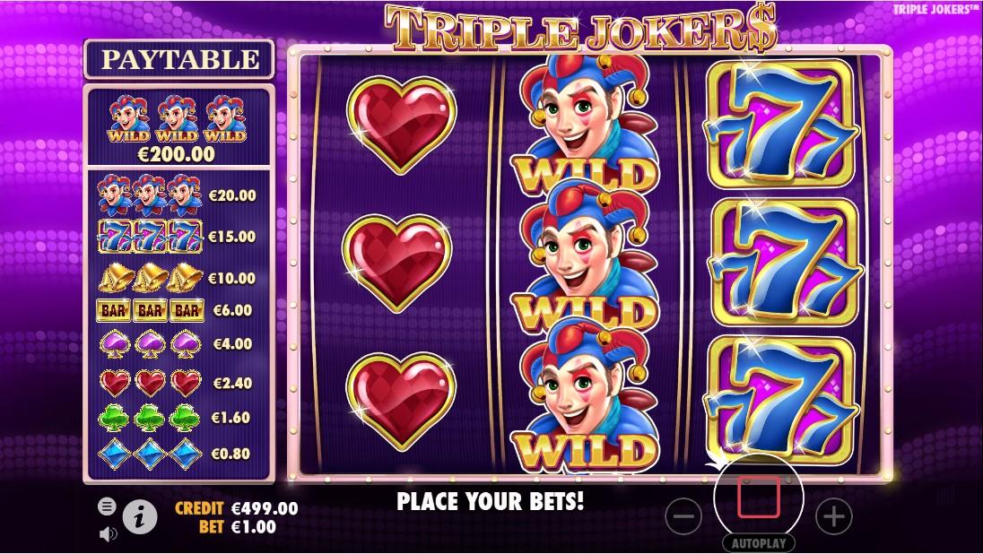 Онлайн слот Triple Jokers