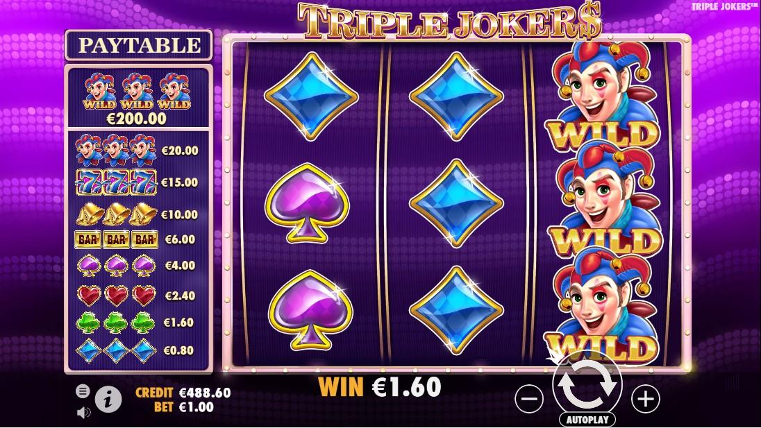Бесплатный слот Triple Jokers