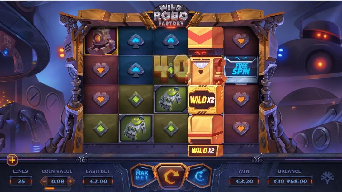 Игровой автомат Wild Robo Factory