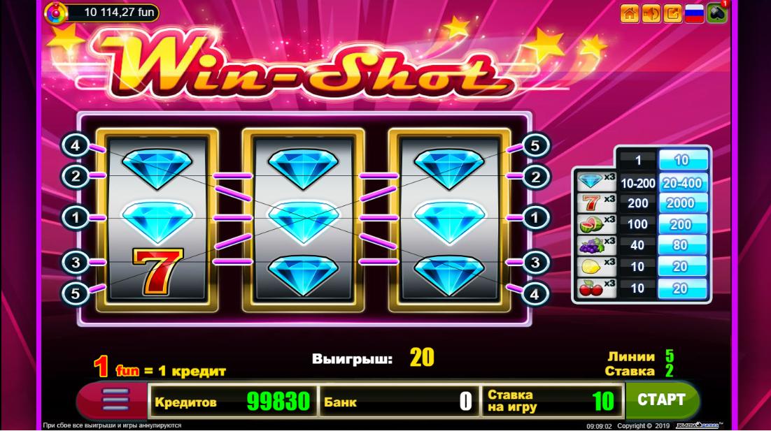 Бесплатный слот Win Shot