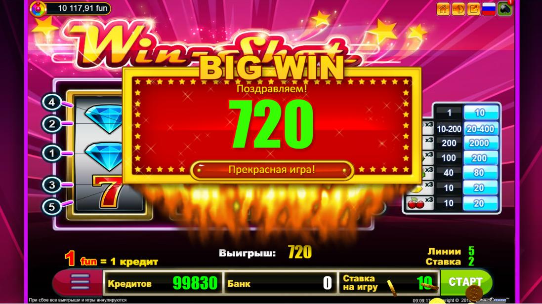 Игровой автомат Win Shot