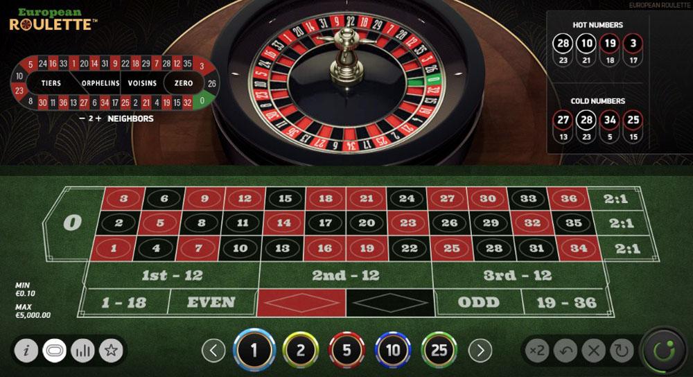 играть в европейскую рулетку