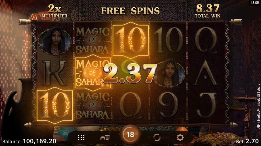 Игровой автомат Magic of Sahara
