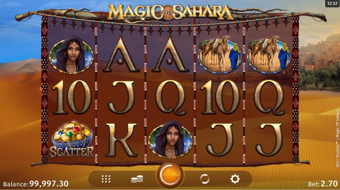 Онлайн слот Magic of Sahara играть бесплатно