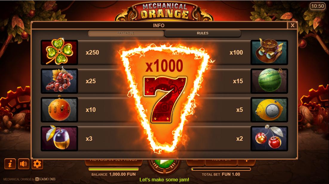 Mechanical Orange игровой автомат