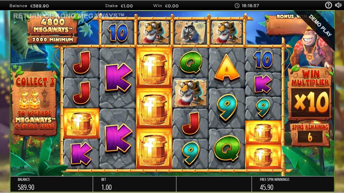 Бесплатный игровой автомат Return of Kong Megaways