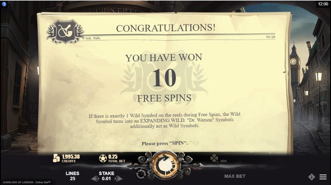 Sherlock of London бесплатный игровой автомат