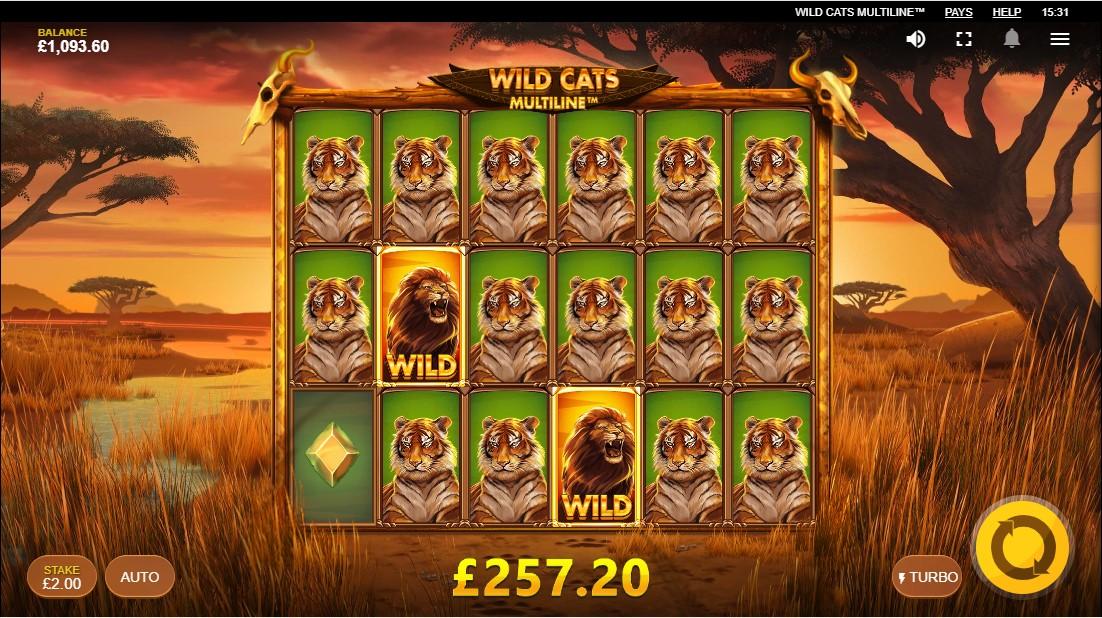 Играть бесплатно Wild Cats Multiline