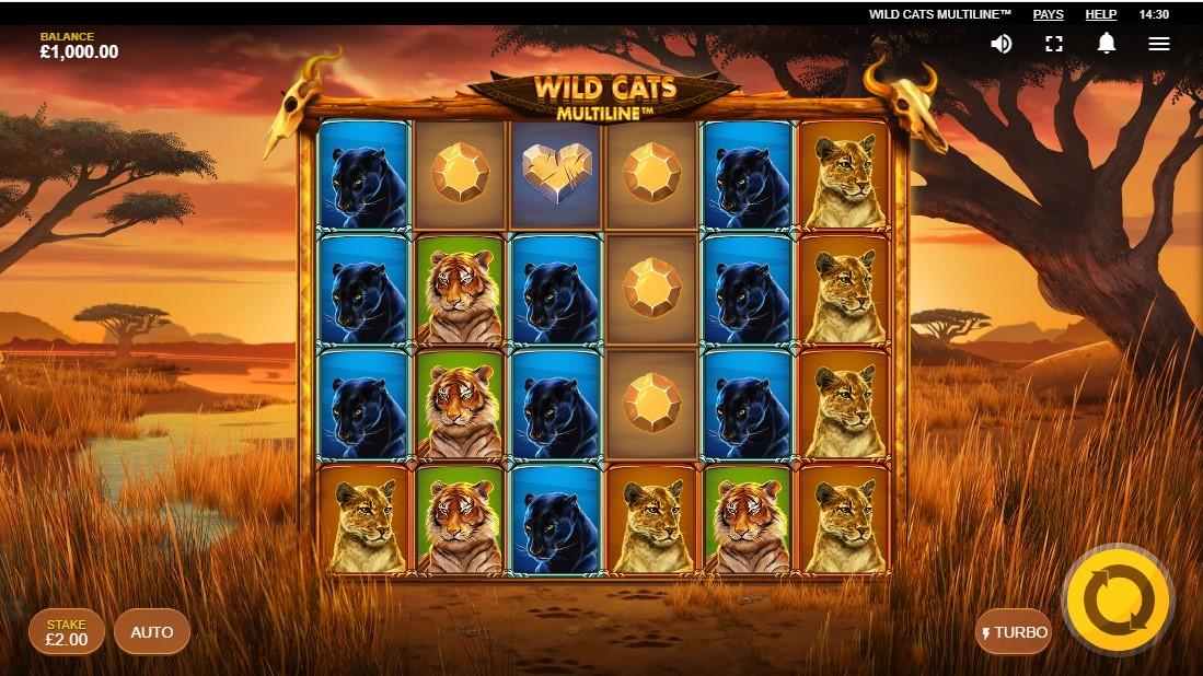 Wild Cats Multiline онлайн слот