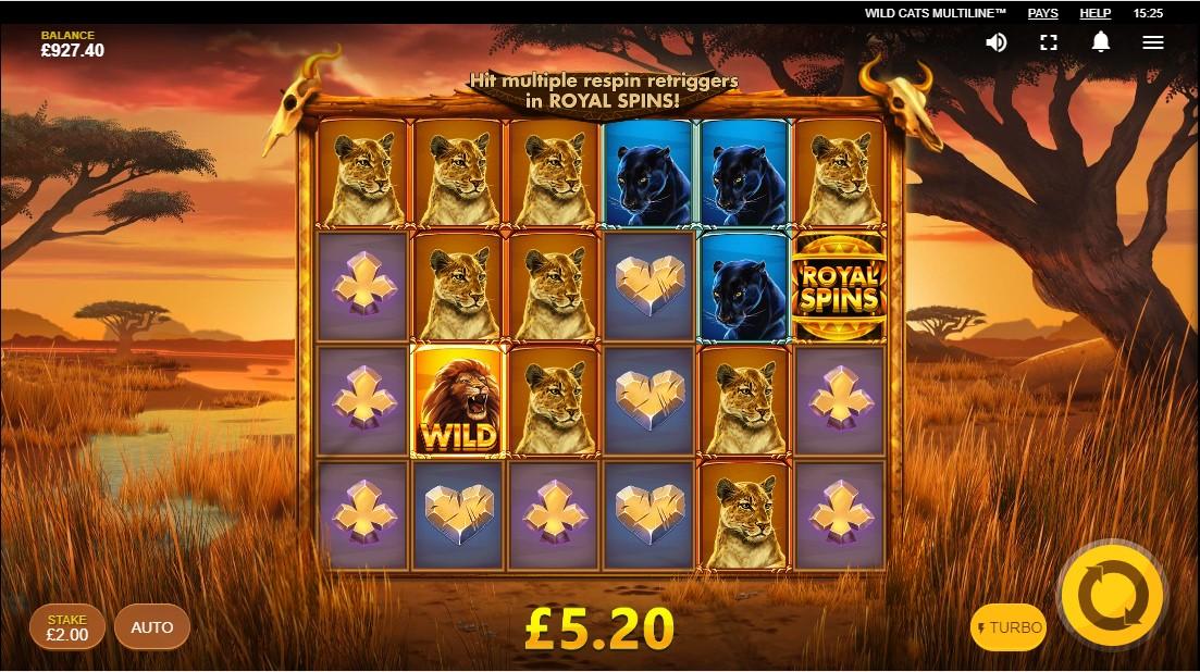 Слот Wild Cats Multiline играть