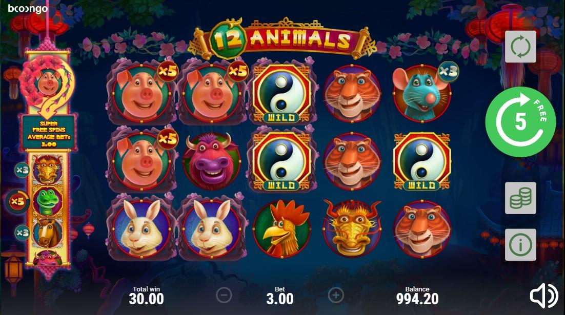 Играть 12 Animals бесплатно