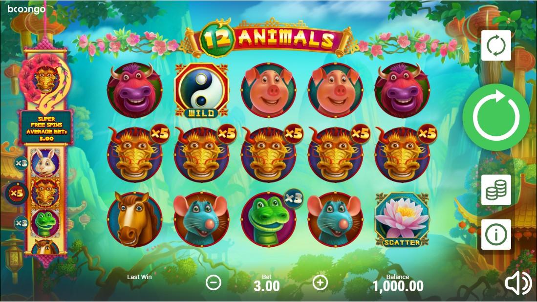 Онлайн слот 12 Animals