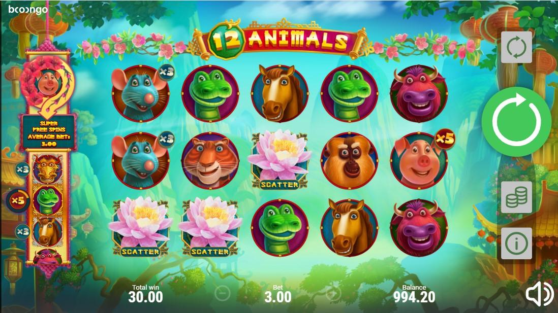 12 Animals игровой автомат