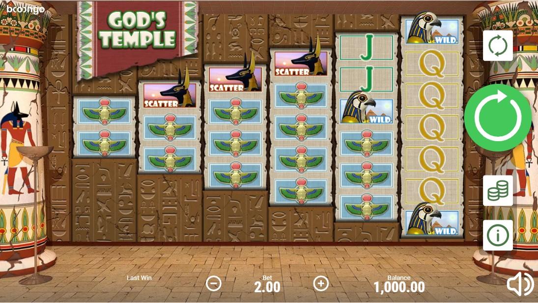 Бесплатный игровой автомат God's Temple