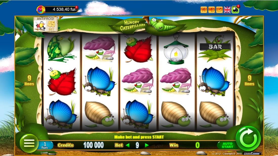 Hungry Caterpillars бесплатный игровой автомат