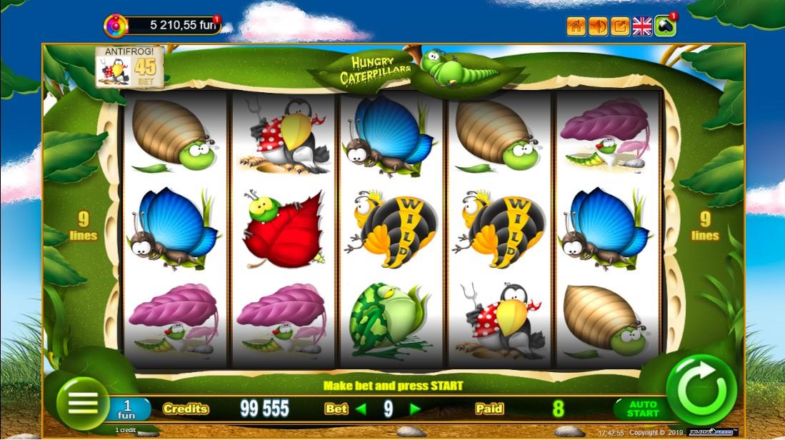 Игровой автомат Hungry Caterpillars