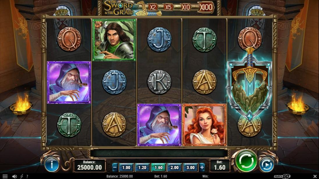 Онлайн игровой автомат The Sword and The Grail