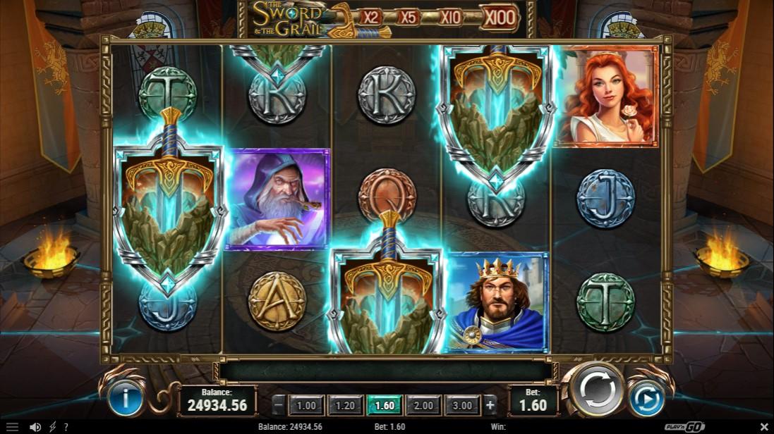 Игровой автомат The Sword and The Grail играть онлайн