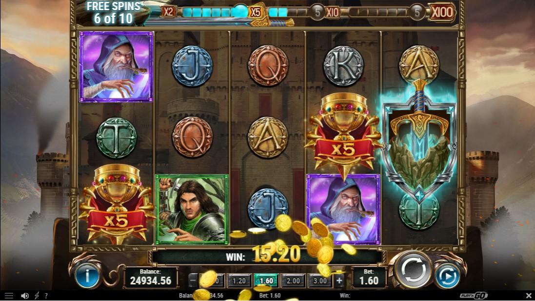 Бесплатный игровой автомат The Sword and The Grail