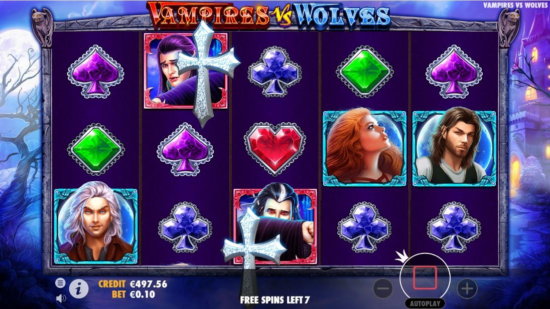 Бесплатный слот Vampires vs Wolves